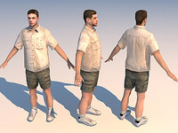 3d character casual 03 model