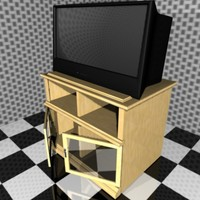 free television stand 3d model