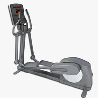 3d model elliptical trainer gym equipment