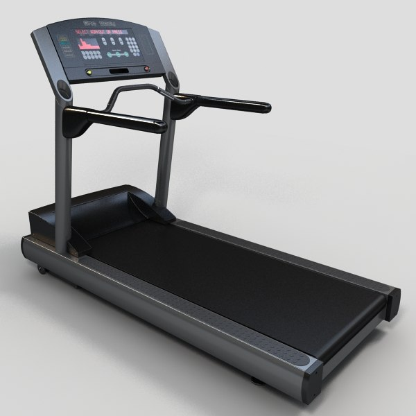 3d model treadmill gym equipment