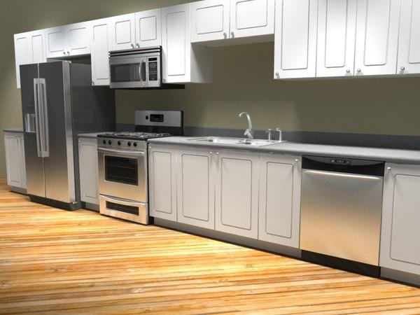 stainless steel kitchen appliance 3d model