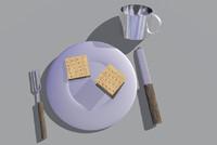 civil war mess kit 3d model