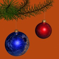 Fur-tree toy. Simple. NYtree2ball_2colors00.zip