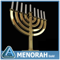 3ds golden menorah