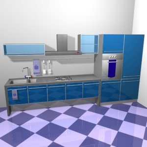 kitchen-1 3d max
