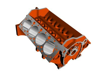 chevrolet engine block 3d model