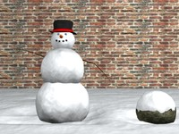 3d snowman snow model