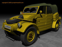 wwii german kubelwagen 3d model