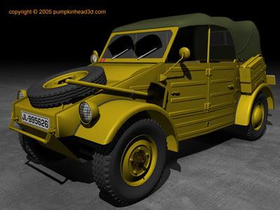wwii german kubelwagen 3d model