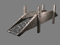 3ds max stone bridge
