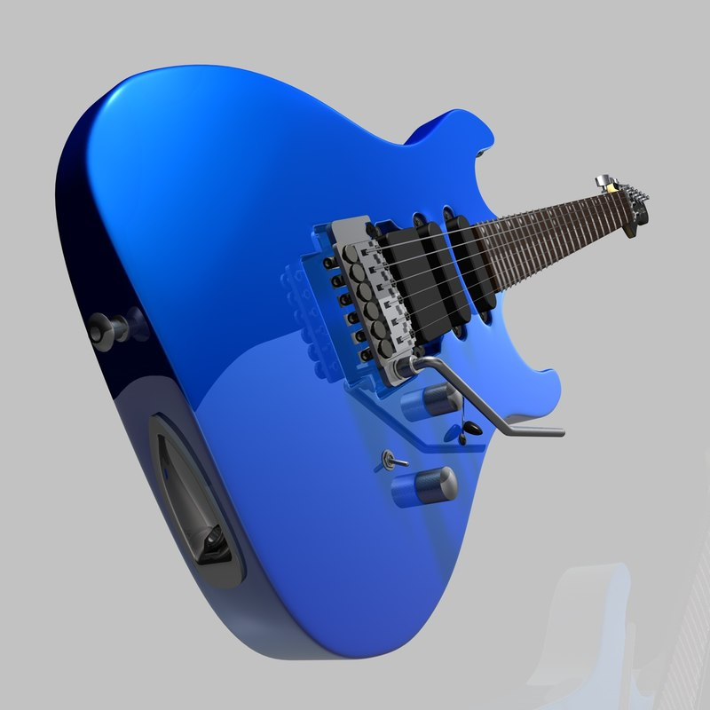 cinema4d electric guitar