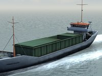 ocean cargo transport 3d max