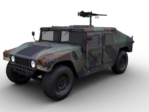 m1025 armament carrier hmmwv 3d max