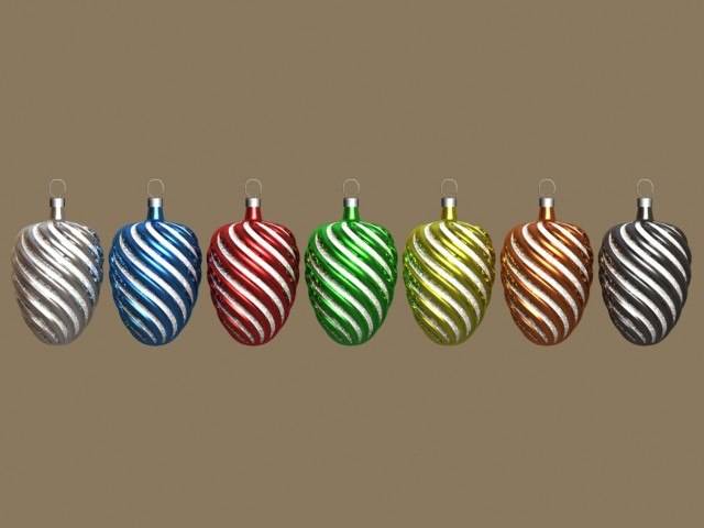 3d glass christmas ornaments r5