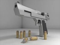 desert eagle handgun gun 3d