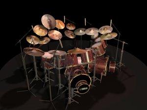 3ds max drum set