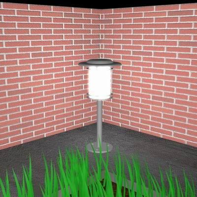 3d model garden light