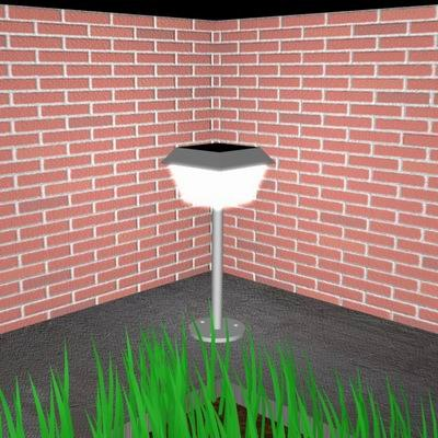 3d model of garden light