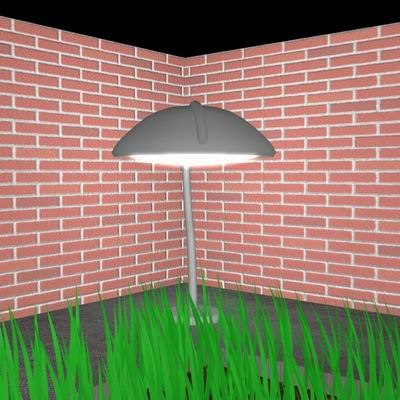 garden light 3d 3ds