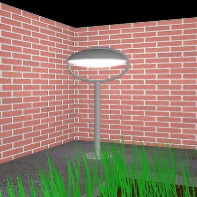 3d garden light model