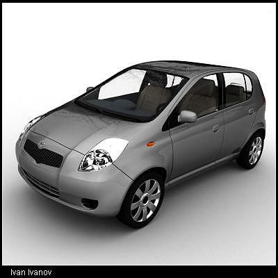 toyota yaris 2005 3d model