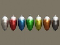 3d model glass christmas ornaments r5