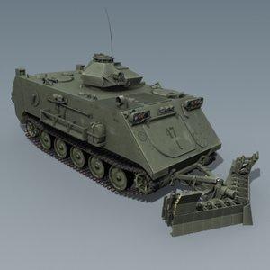 3d model truck apc tank