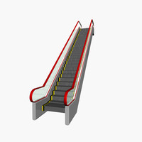 3ds max escalator