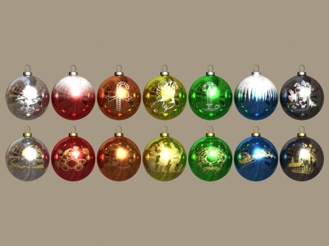 glass christmas ornaments r5 3d max