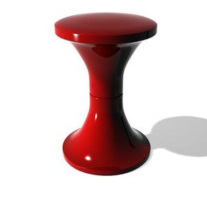 free tam stool 3d model