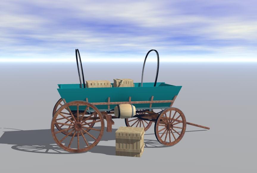 civil war sutler wagon 3ds