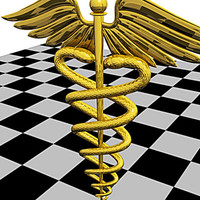 caduceus symbolic medical 3d model