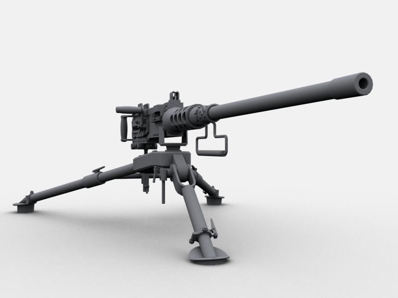 3d browning 50 machine gun model