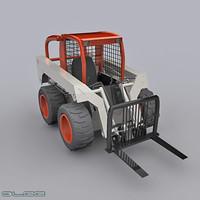 3ds max forklift industrial bobcat