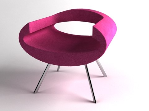 max pink eye chair