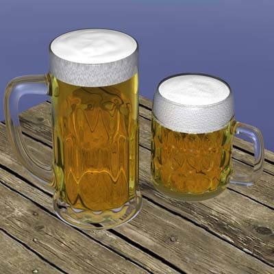 cinema4d beer glass
