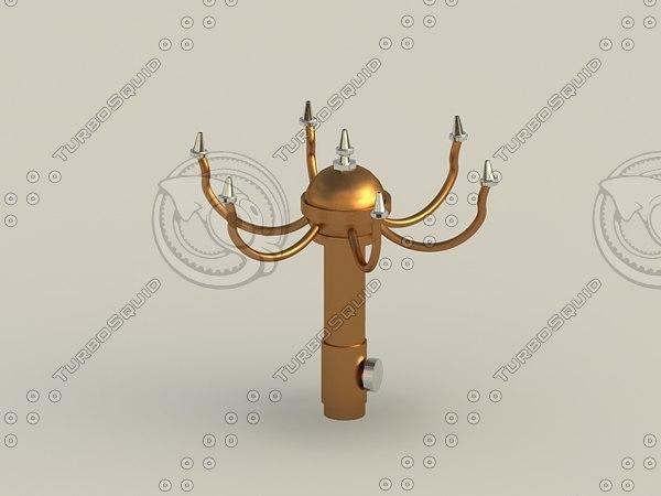 3d oase pirouette fountain nozzle model