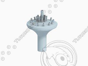 3d water castle nozzle model