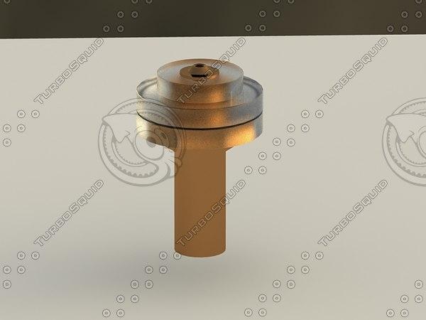 water castle nozzle 3d max