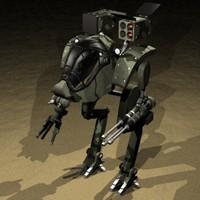 3d battle mech model