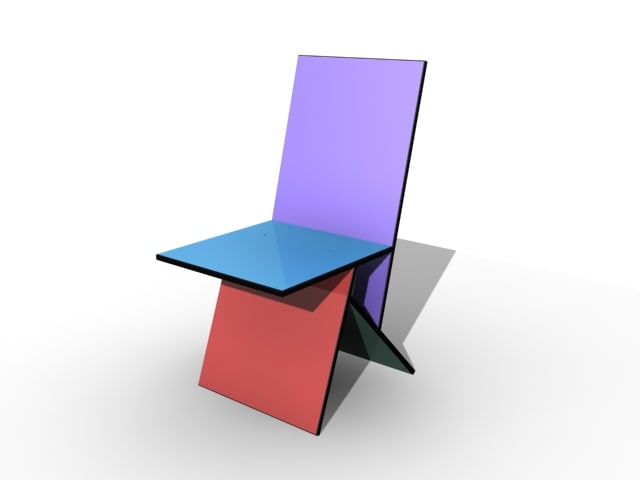 vilbert chair verner panton 3d model
