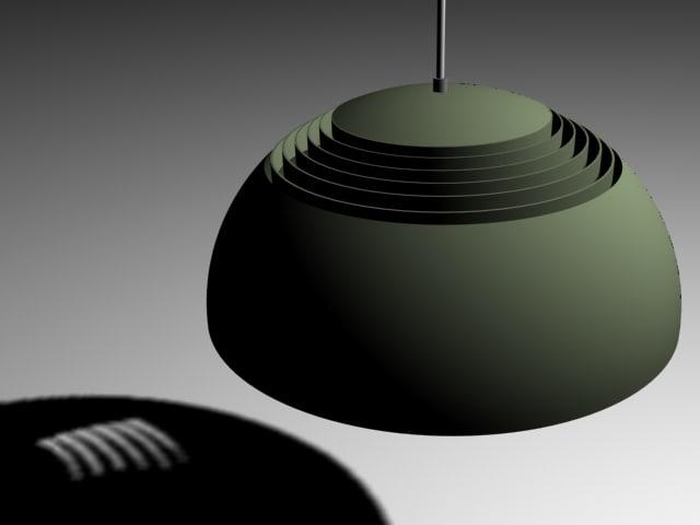 arne jacobsen lamp aj 3d model