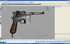 free mauser c96 3d model