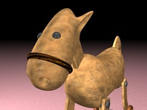 free c4d model cartoon hobble horse