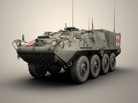 army stryker 3d model