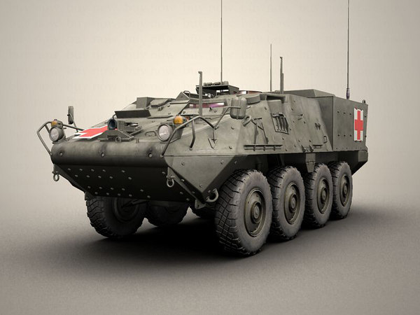 army stryker 3d model