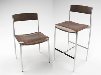 baba chairs 3d model