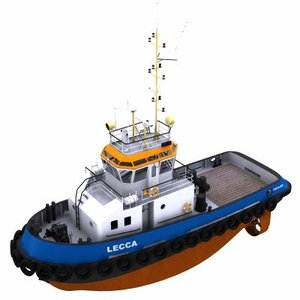 3d model harbour tug