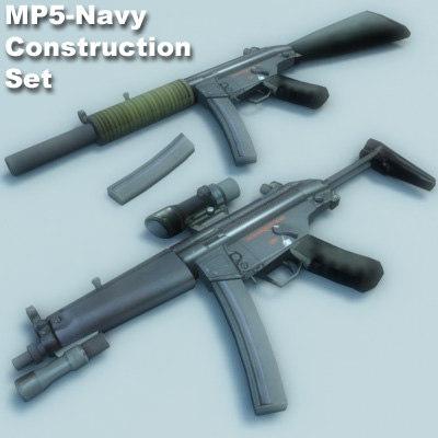 navy gun weapon 3d model