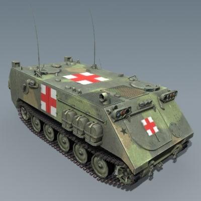 m113 ambulance 3d model